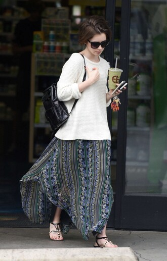skirt spring maxi skirt lily collins