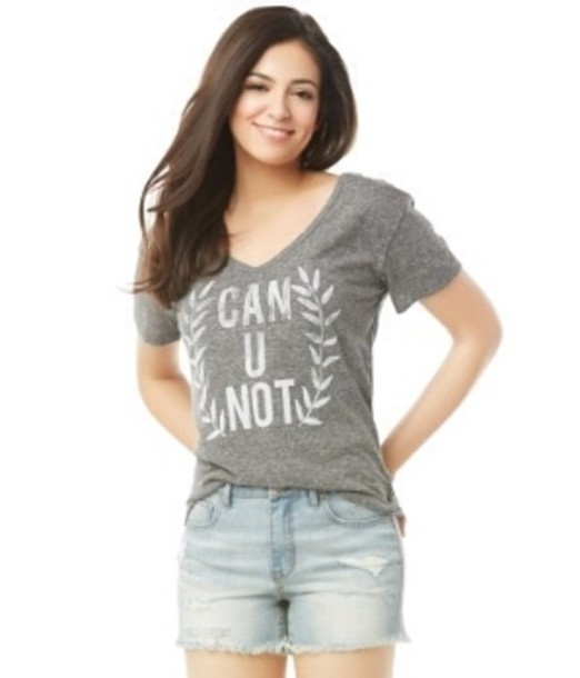 t-shirt grey grey t-shirt graphic tee graphic tee bethany mota macbarbie07 can u not tumblr