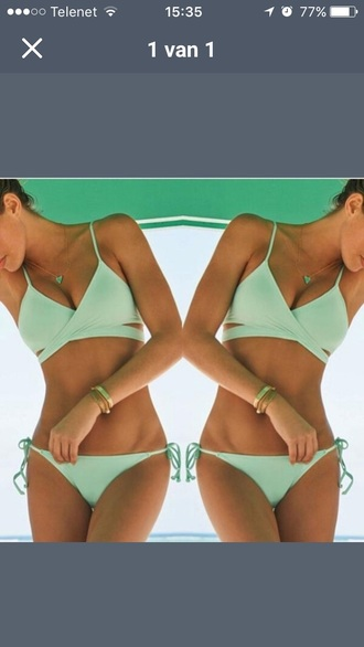swimwear bikini green summer