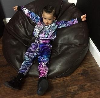 guys fashion swag tracksuit baby bear bears galaxy print stars kids fashion fashion kids sneakers