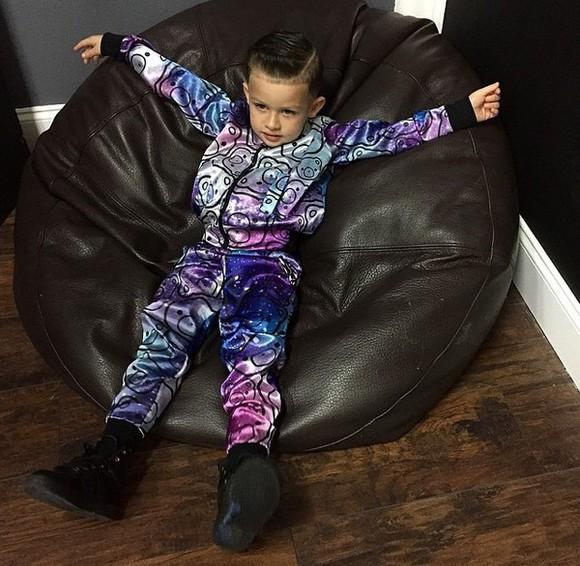 guys fashion swag tracksuit Baby bear bears galaxy print stars kids fashion sneakers
