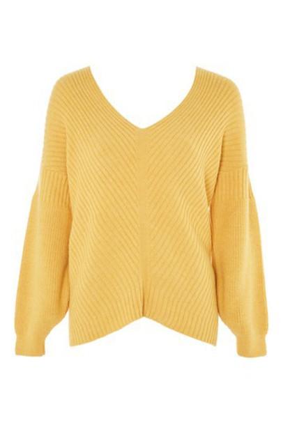 Topshop sweater mustard