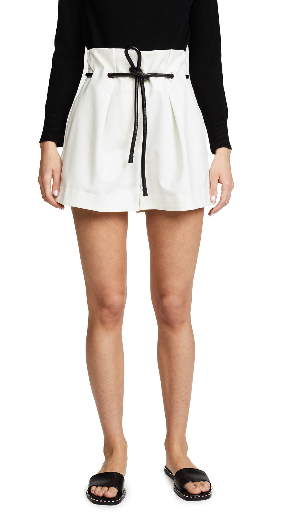 3.1 Phillip Lim Origami Pleated Shorts in white