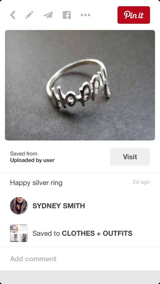 nail accessories happy ring happy silver ring sterling silver