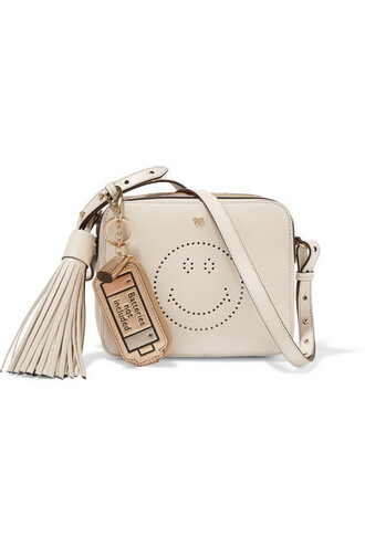 bag smiley shoulder bag anya hindmarch off-white leather bag