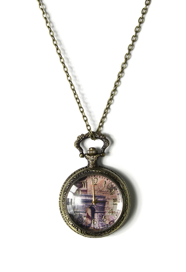 jewels triumphal arch watch pendant necklace