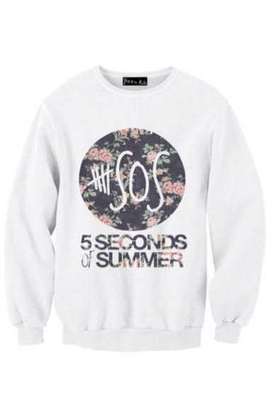sweater 5sos sweatshirt 5 seconds of summer floral shirt fashion 5sos 5sos tees 5sos crop top 5sos top tumblr outfit tumblr shirt tumblr sweater crewneck style band merch band t-shirt music rock punk flowers sweater/sweatshirt instagram flickr black white grey sweater gray grey 5 seconds of summer floral