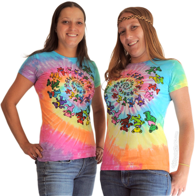 Spiral bears tie dye women's t shirt on sale for $22.95 at hippieshop.com