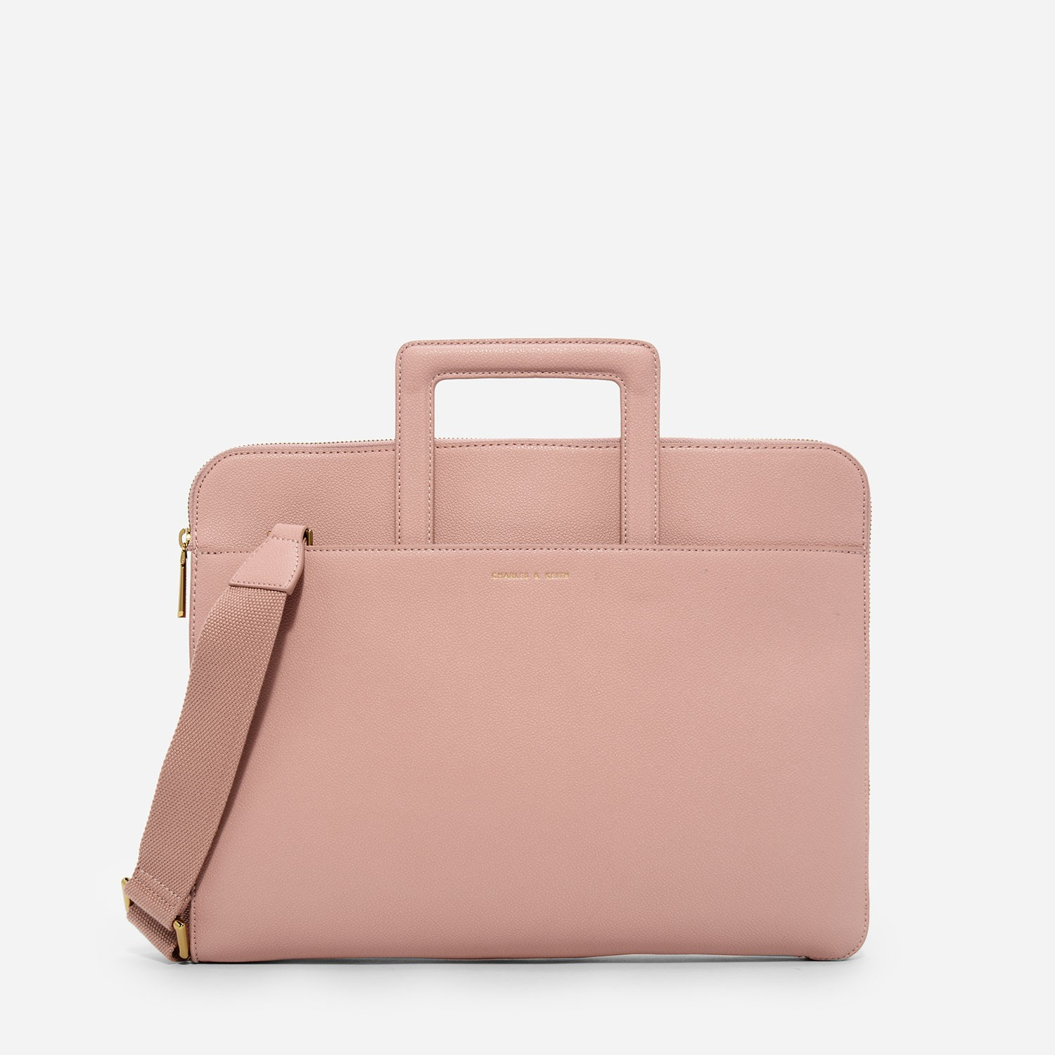 Nude Basic Laptop Case | CHARLES & KEITH