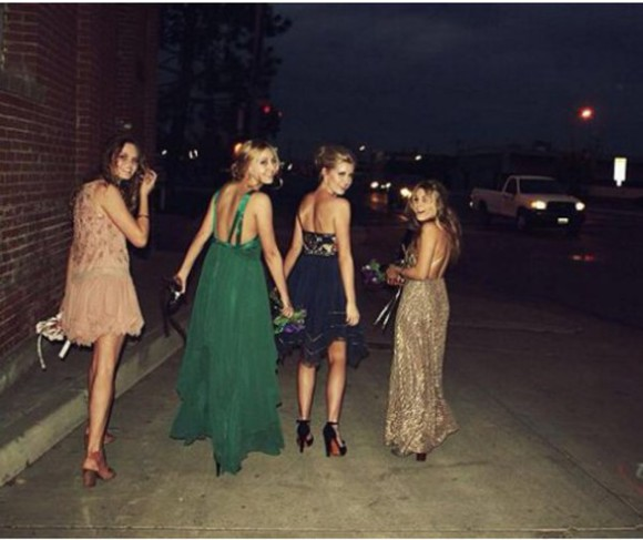 clothes dress prom dress green dress