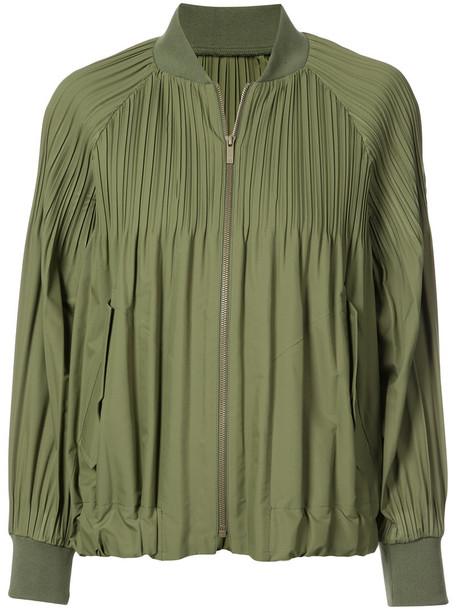 Pleats Please By Issey Miyake coat women green