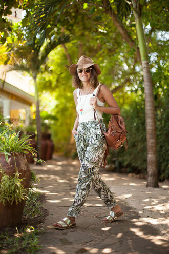 lovely pepa blogger pants shoes jewels hat