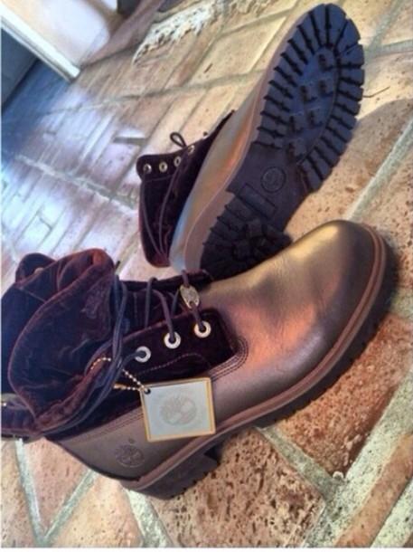 shoes velvet timberlands