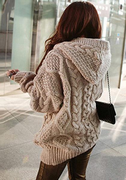 Brown Sweater Coat