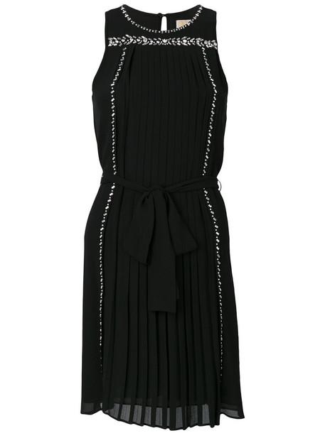 MICHAEL Michael Kors dress pleated dress pleated women embellished black
