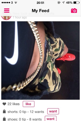 jeans army green pants military green nike crop top black tank top