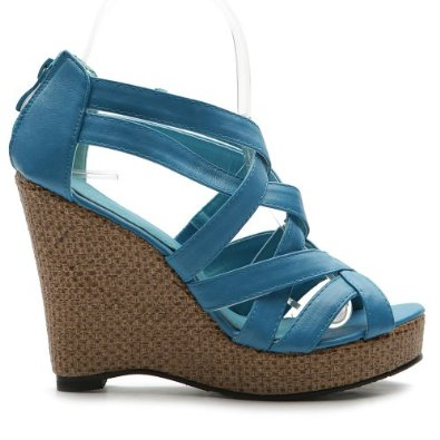 Amazon.com: Ollio Womens Platforms Wedge Pumps Gladiator Ankle Strap Multi Colored Sandal Shoes: Shoes