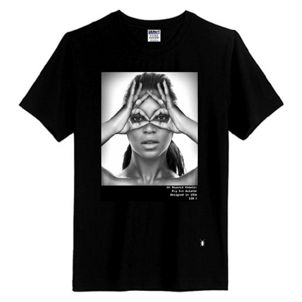 Beyonce hype means nothing style eye in hand t shirt
