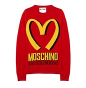 japanese,mcdonalds logo,sweater,kawaii,graphic tee,graphic sweater,cute,red,yellow,fashion,wool,cashmere jumper,red sweater,unisex,moshino,mcdonalds,mcdon love,fast food,cozy