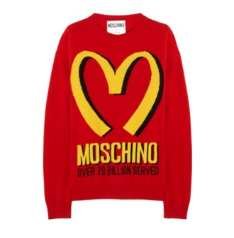 japanese mcdonalds logo sweater kawaii graphic tee graphic sweater cute red yellow fashion wool cashmere sweater red sweater unisex moshino mcdonalds mcdon love fast food cosy