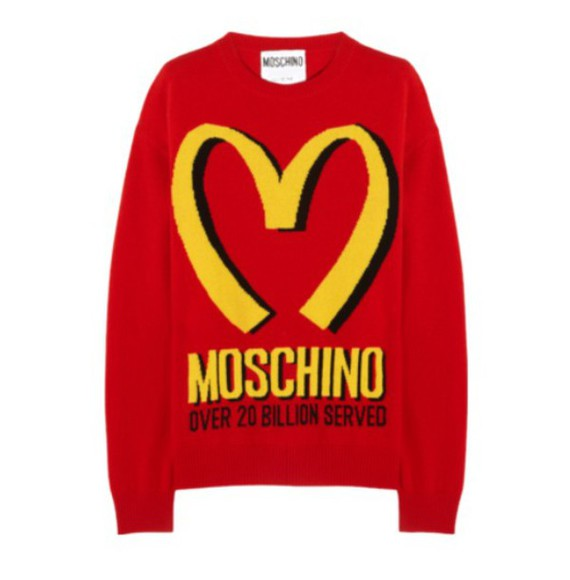 sweater wool japanese mcdonalds logo kawaii graphic tee graphic sweater cute red yellow fashion wool, sweaters, grey, cosy cashmere sweater red sweater unisex unisex sweater moshino mcdonalds mcdon love fast food