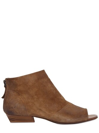 open boots ankle boots suede tan shoes