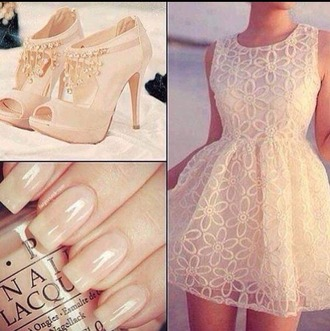 nail accessories cream nail polish shoes dress cream dress cream high heels heels high heels
