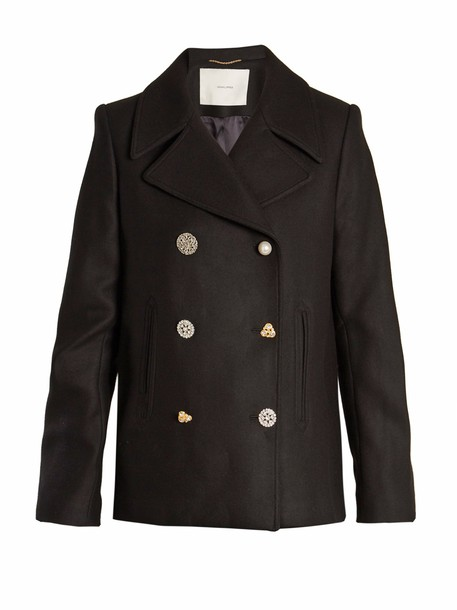 Adam Lippes coat pea coat wool black
