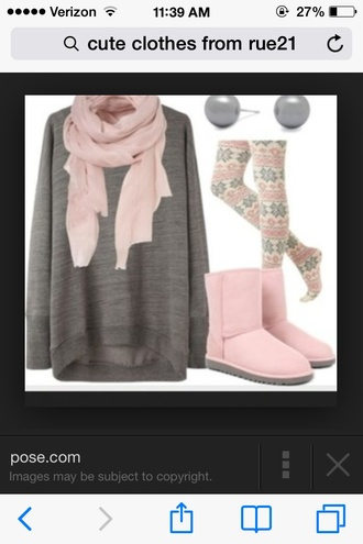 scarf light pink scarfs sweater