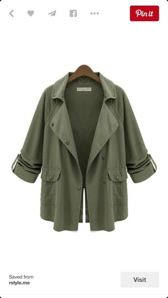 jacket forest green style top cardigan pockets