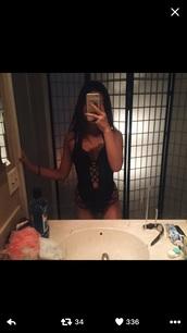 swimwear,black,stringy,strappy,bikini
