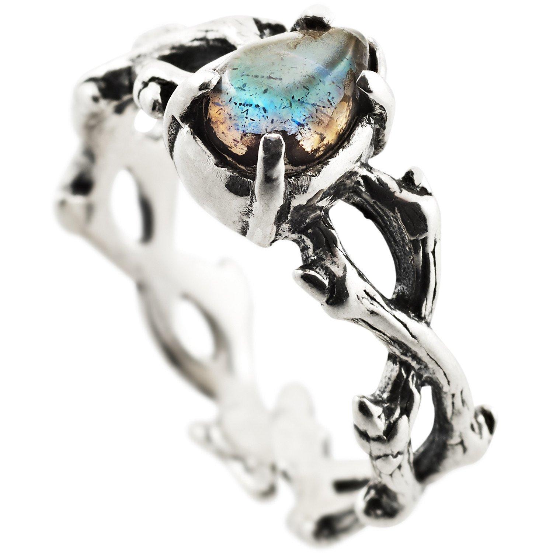 Shop Dixi Boho Ring | Forbidden Love Labradorite Gothic Thorn Ring