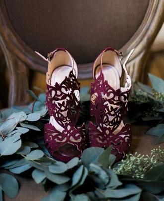 shoes purple heels