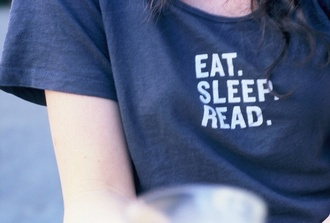t-shirt food sleep book quote on it grey new years resolution