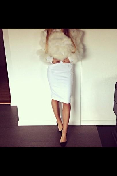 blouse cream white fluffy jumper sweater