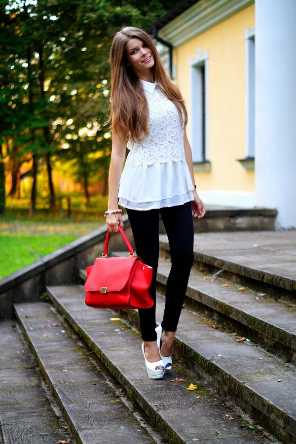 only my fashion style blogger blouse jeans bag jewels