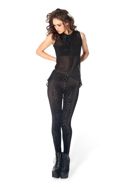 Burned Velvet Leggings › Black Milk Clothing