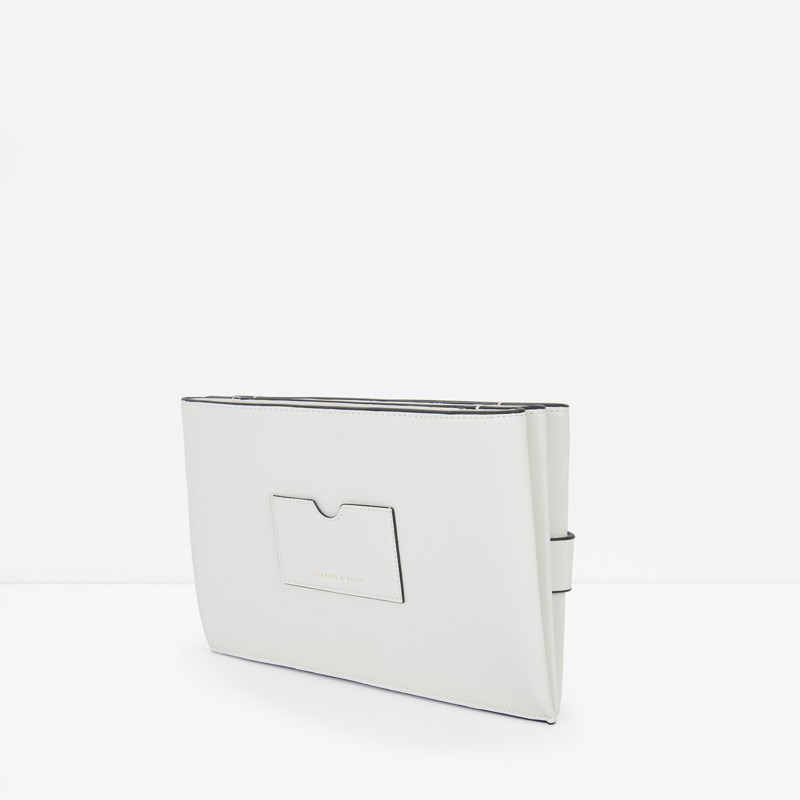 Origami Detail Clutch | CHARLES & KEITH