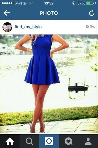 dress blue dress necklase jewels