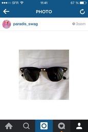 sunglasses,noire et or