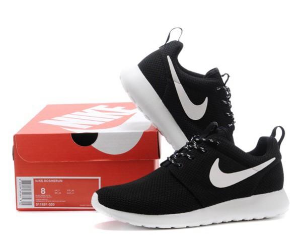 Nike Roshe Run Mesh Black White Logo Shoes Nike Womens Roshe Run Mesh