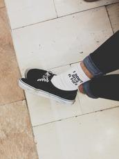 underwear,white,black,socks,quote on it
