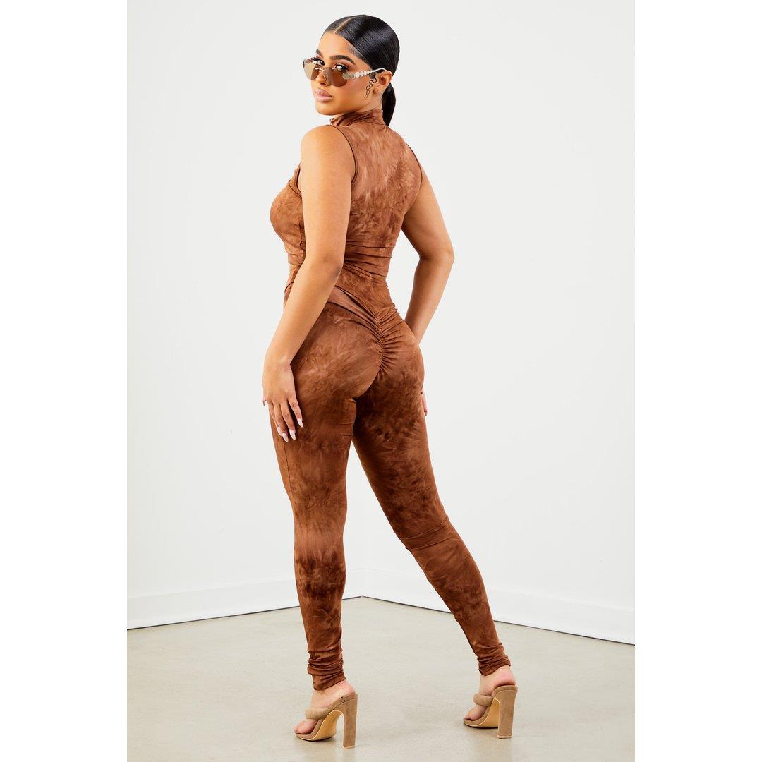 Sorella Brown Tie Dye Leggings