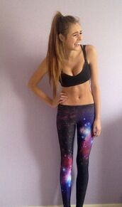 pants,galaxy print