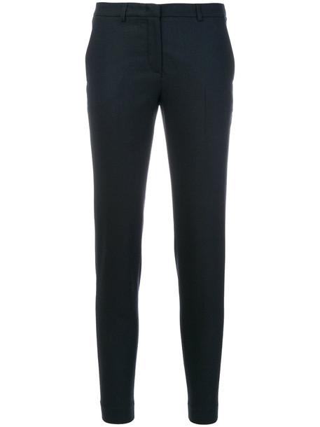 Fabiana Filippi cropped women spandex cotton blue wool pants