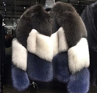 coat fuzzy coat fur coat fashion fur jacket blue coat