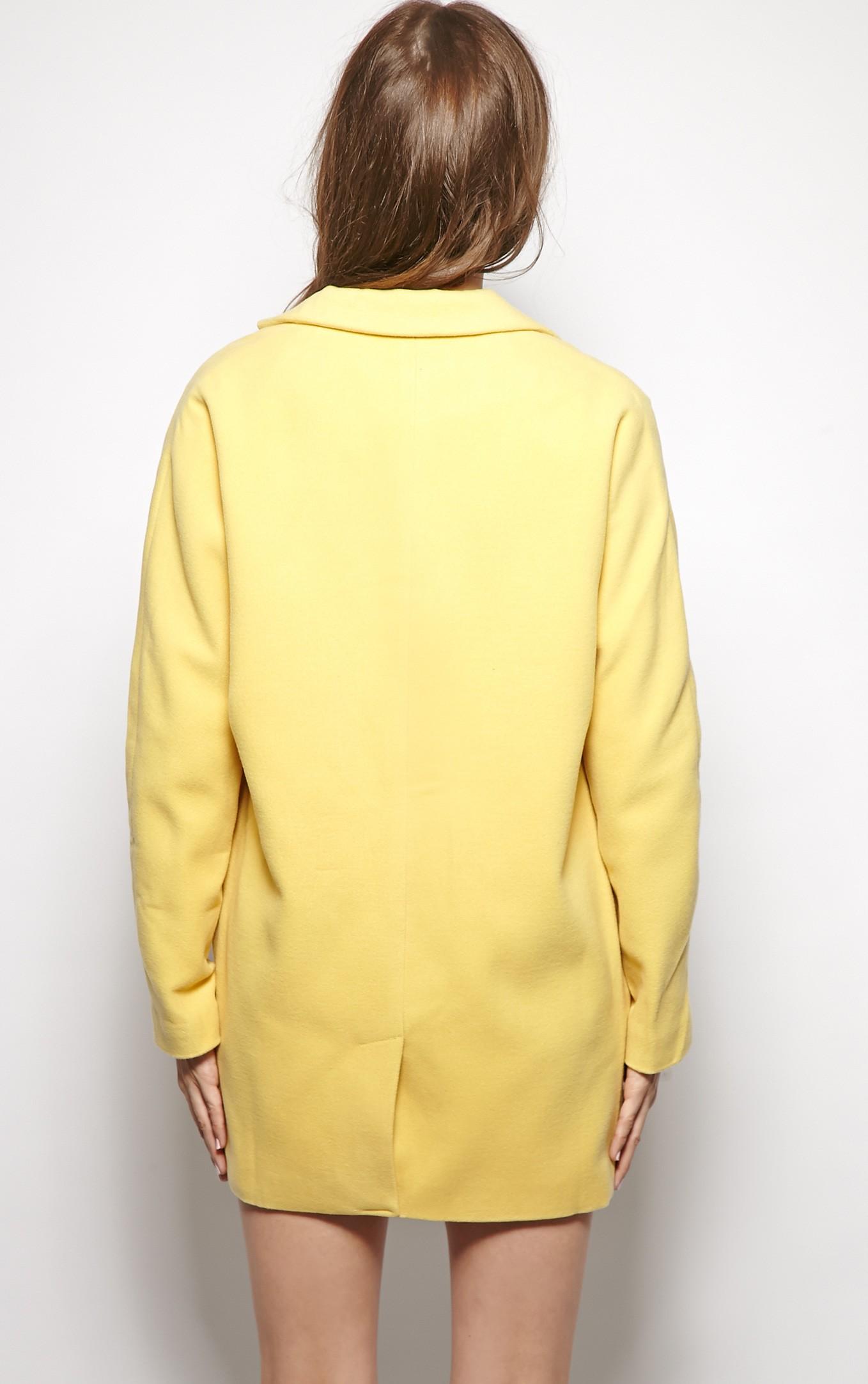 Hope Yellow Boyfriend Coat - Coats - PrettyLittleThing.com | PrettyLittleThing.com