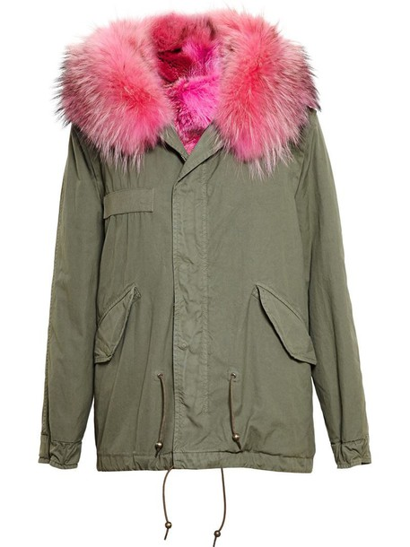 Mr & Mrs Italy parka fur purple pink coat