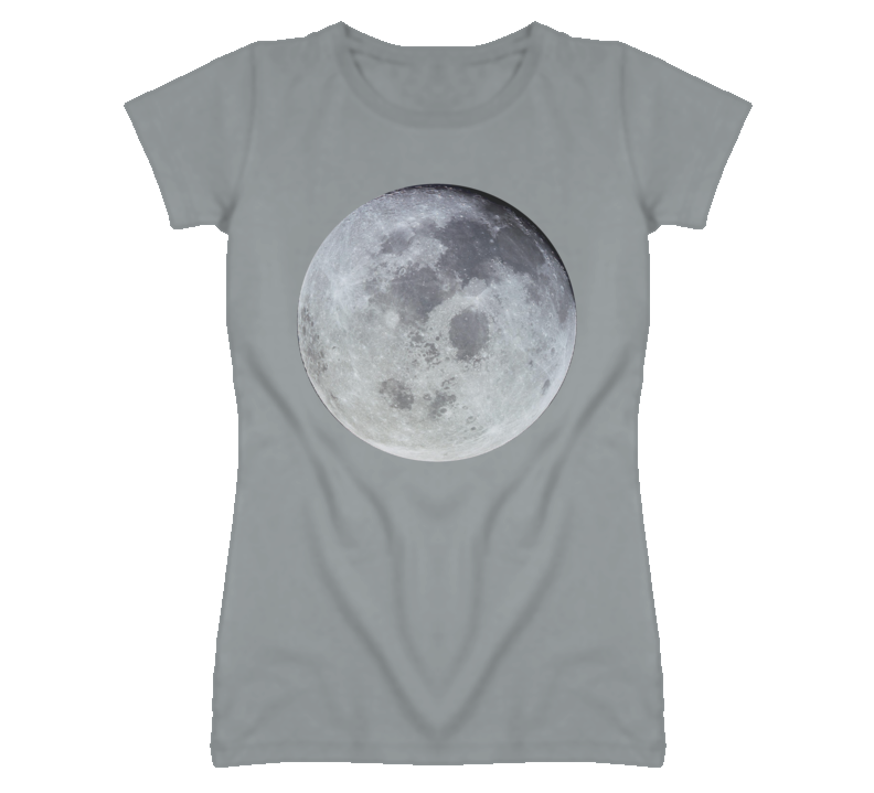 Faded Moon Image on Heather Grey T Shirt