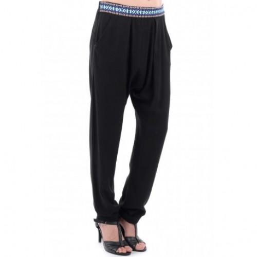 Black stylish harem trousers